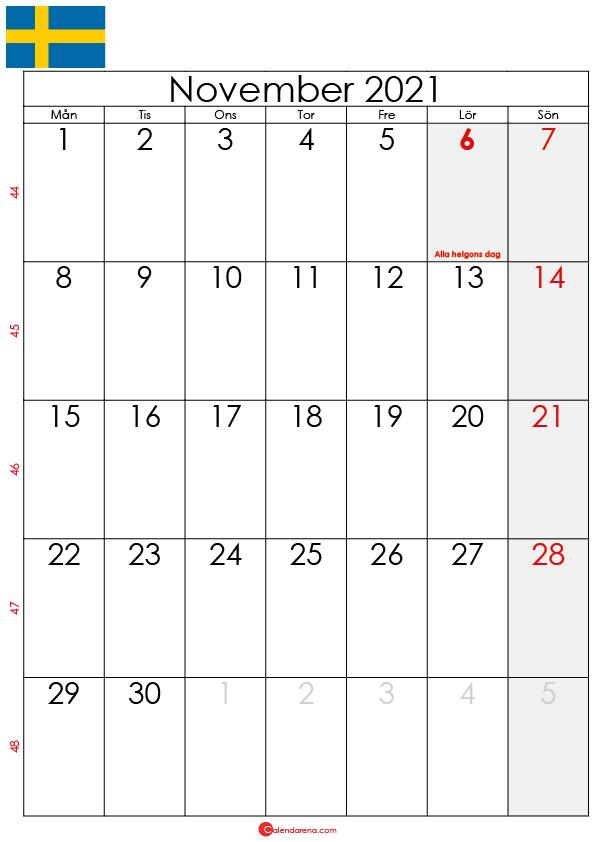 kalender november 2021 sw
