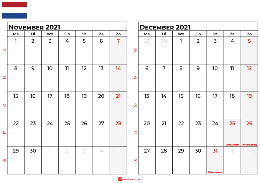 kalender november december 2021 nl