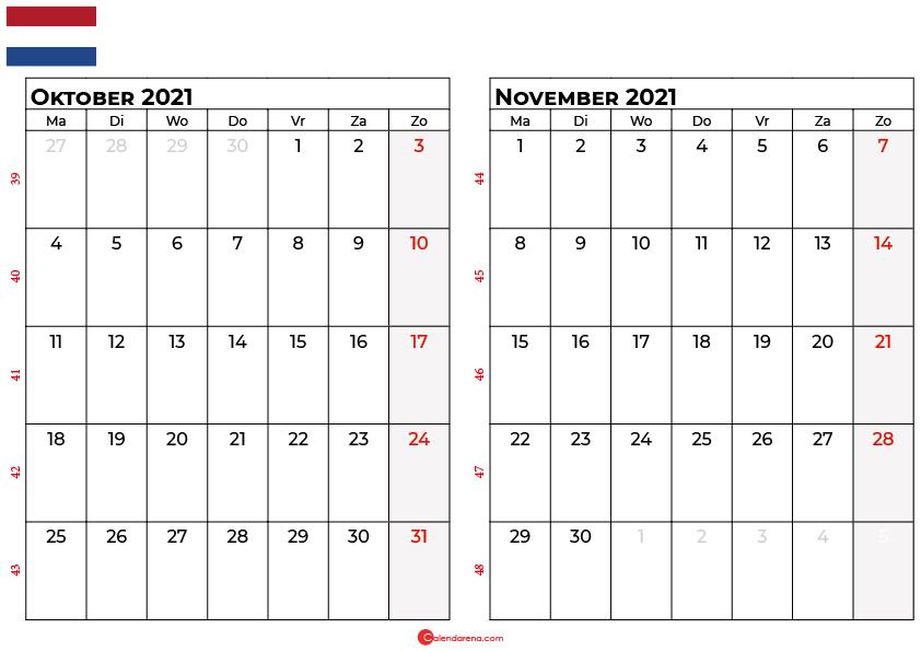 kalender oktober november 2021 nl
