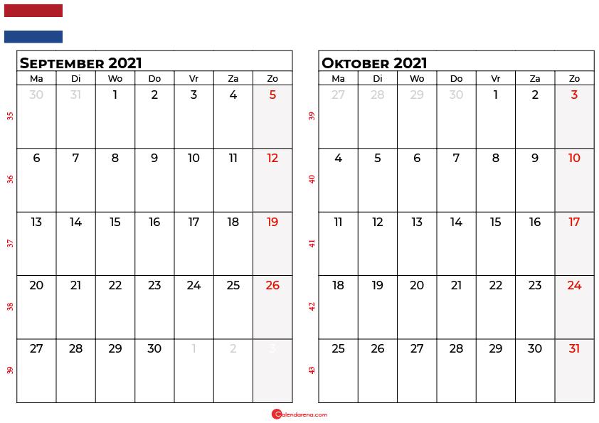 kalender september oktober 2021 nl