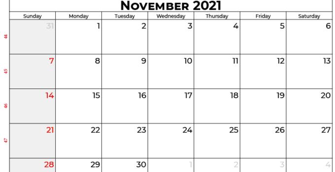 november 2021 calendar au