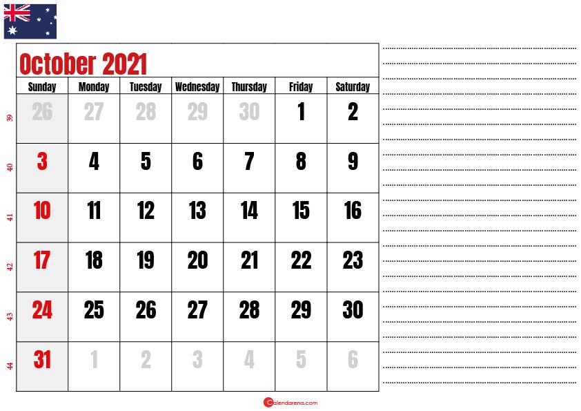 printable october 2021 calendar au
