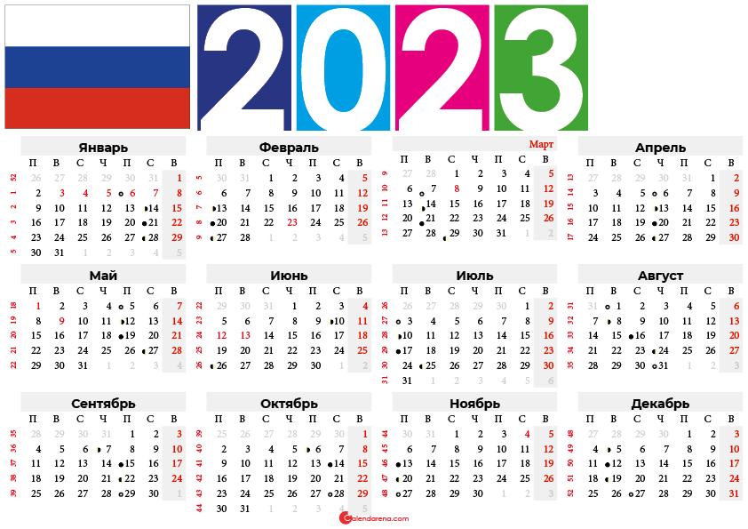 лунный календарь 2023