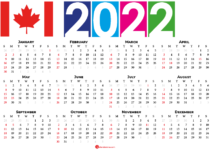 2022 calendar canada