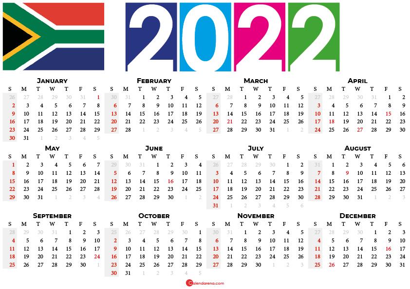 2022 calendar south africa