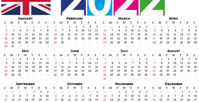 2022 calendar united kingdom