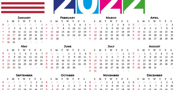 2022 calendar usa