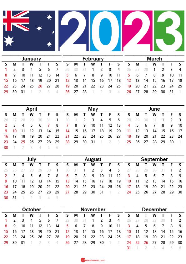 2023 calendar australia