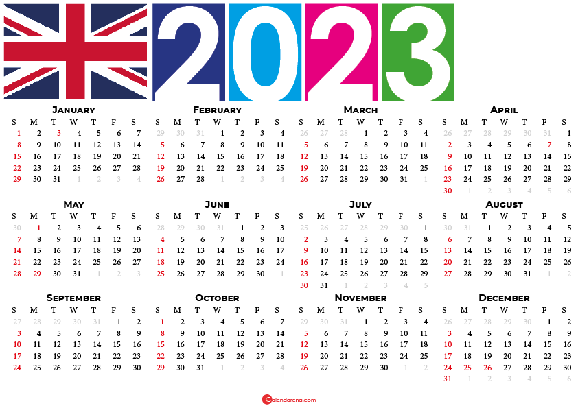 2023 calendar united kingdom