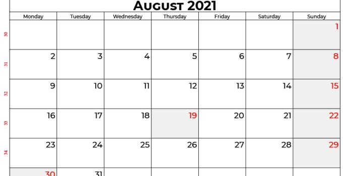 august 2021 calendar india