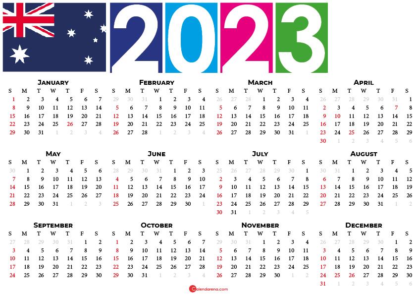 calendar 2023 australia