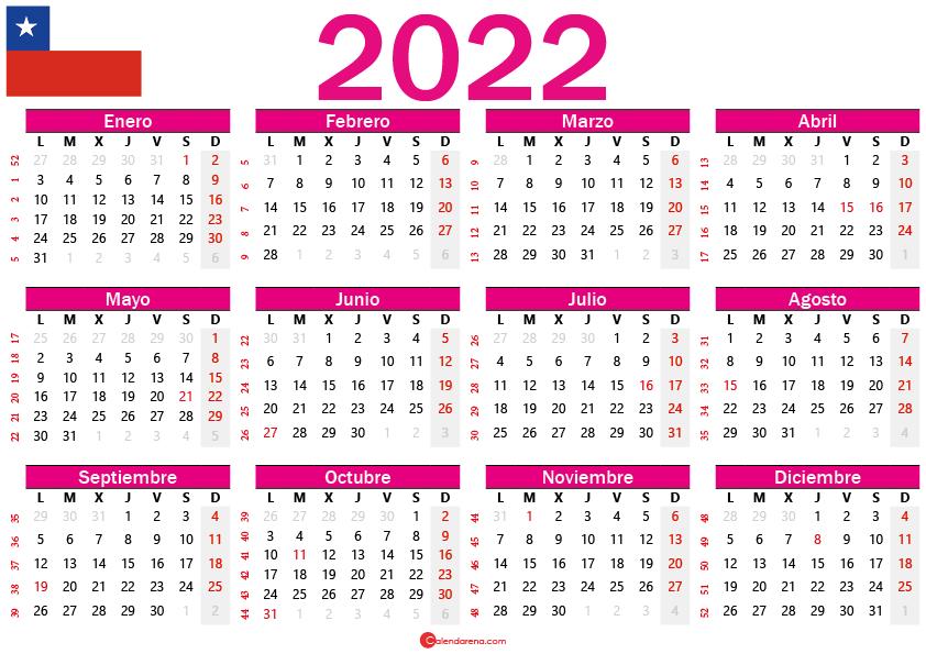 calendario 2022 chilie