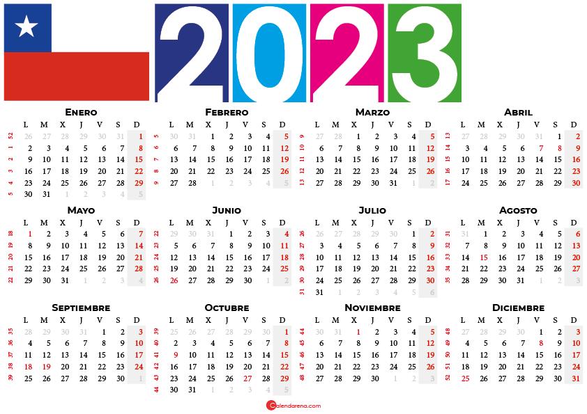 calendario 2023 chilie