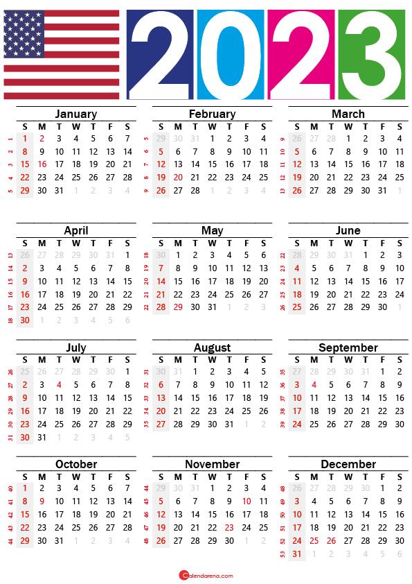 free printable calendar 2023