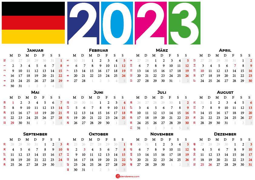 kalender 2023 Deutschland