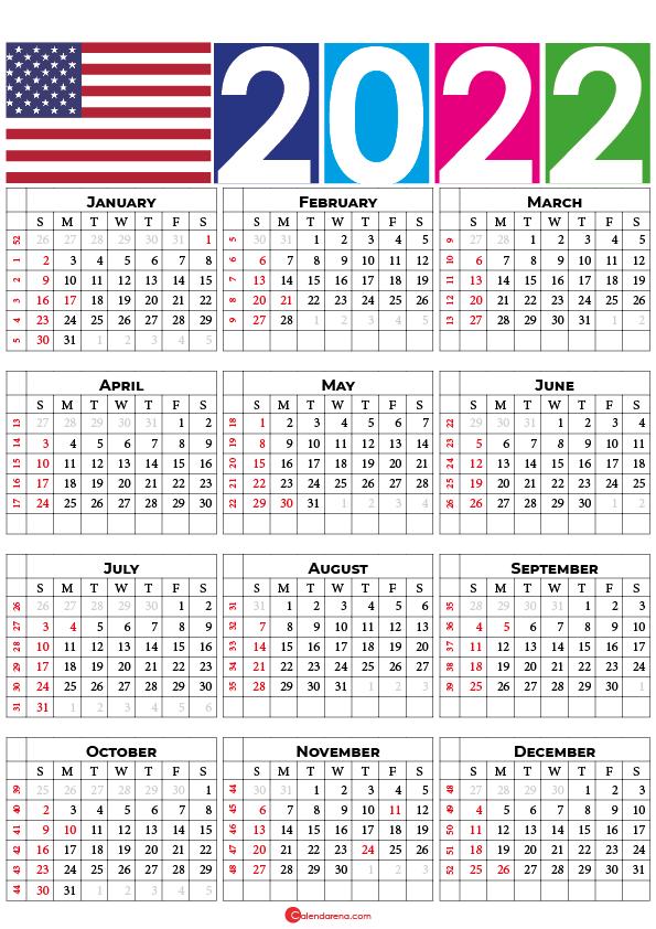 printable 2022 calendar