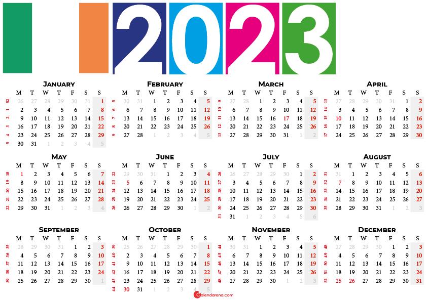 2023 calendar ireland