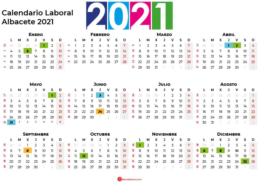 Calendario Laboral Albacete 2021