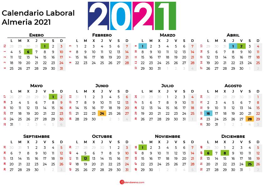 Calendario Laboral Almeria 2021