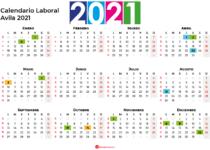 Calendario Laboral Avila 2021