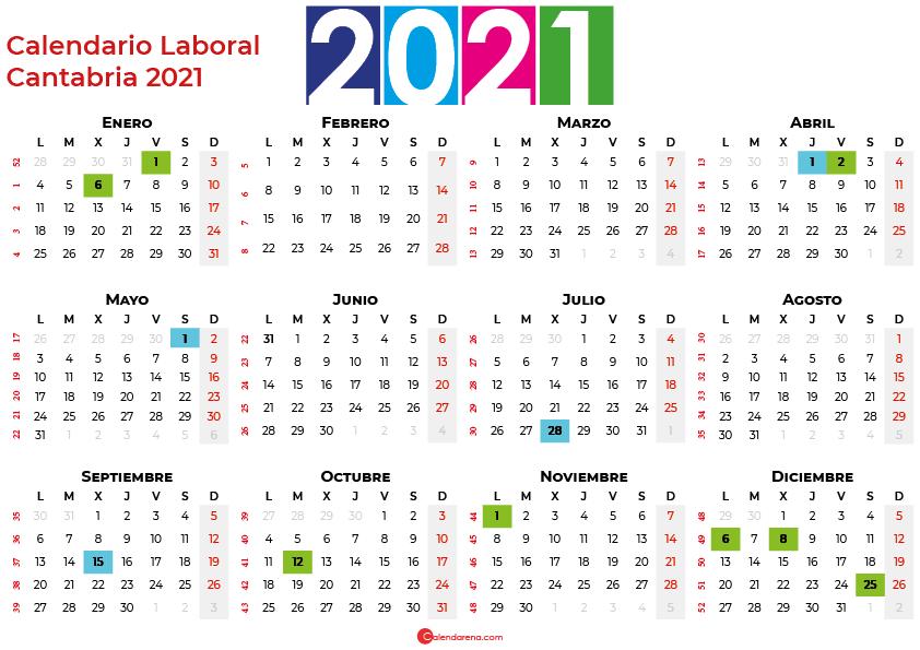 Calendario Laboral Cantabria 2021