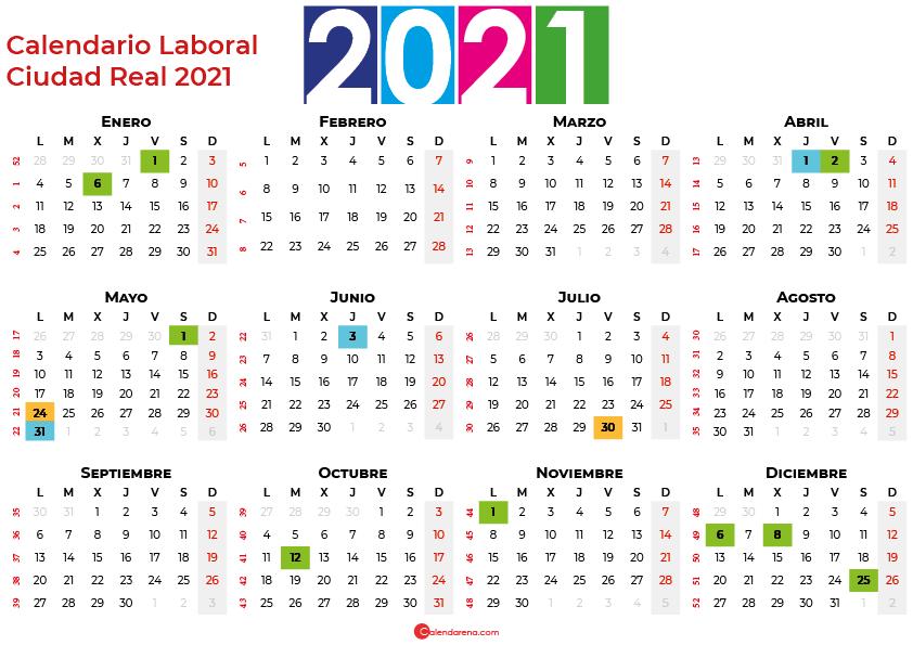 Calendario Laboral Ciudad Real 2021