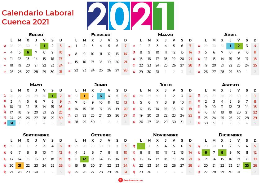Calendario Laboral Cuenca 2021