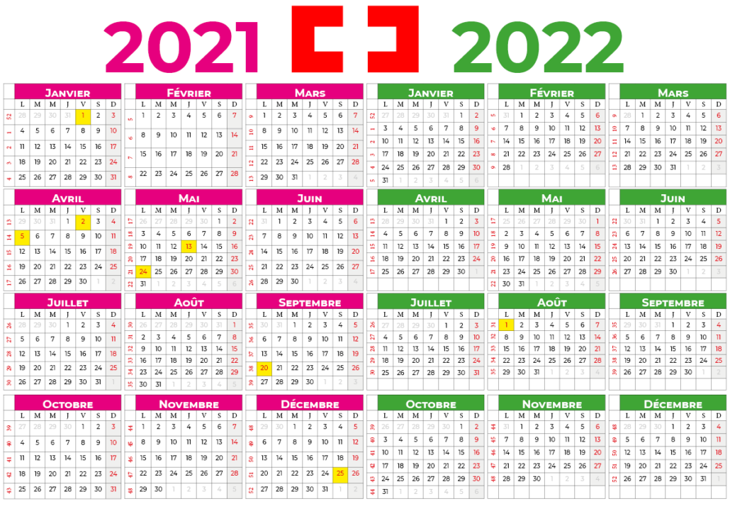 Calendrier 2021-2022 suisse