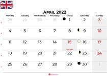april 2022 calendar united kingdom