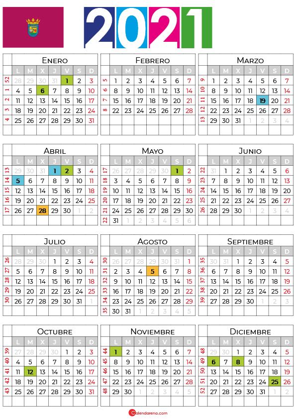 calendario laboral 2021 Alava