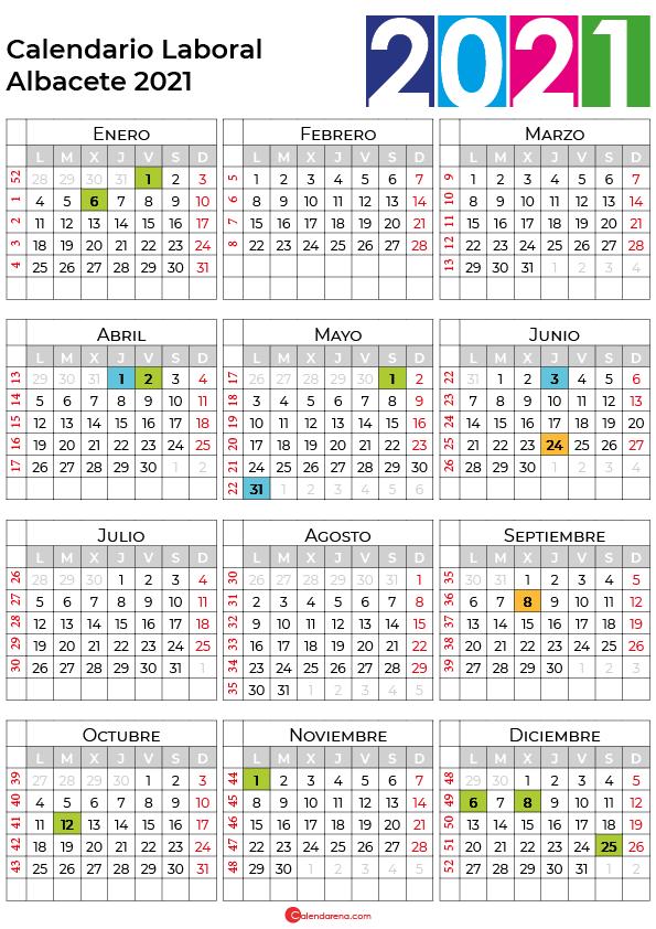 calendario laboral 2021 Albacete