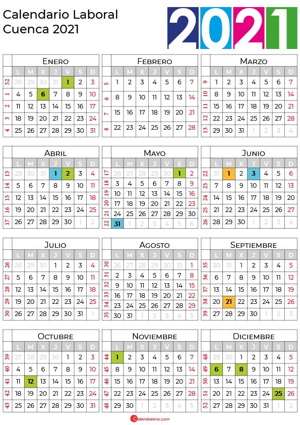 calendario laboral 2021 Cuenca