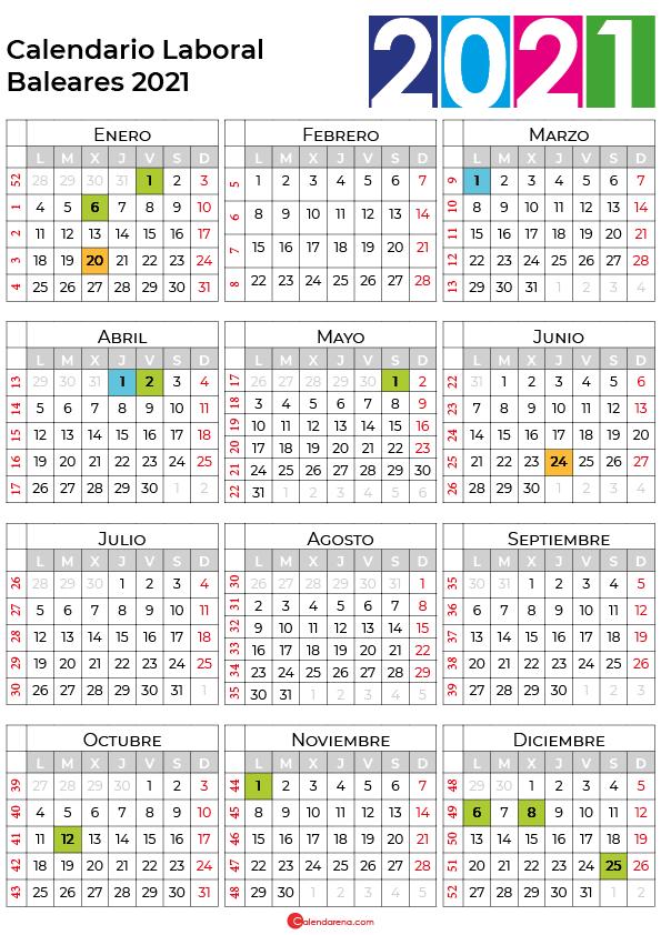 calendario laboral 2021 baleares
