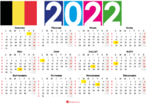 calendrier 2022 à imprimer belgique