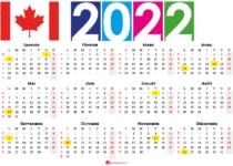 calendrier 2022 à imprimer canada