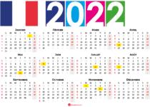 calendrier 2022 à imprimer france