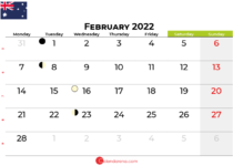 february 2022 calendar australia