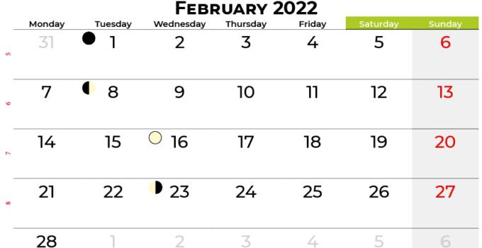february 2022 calendar south africa