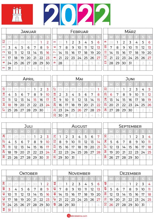 ferien hamburg 2022 kalender