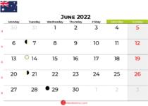 june 2022 calendar australia