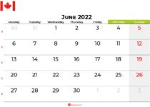 june 2022 calendar canada