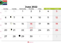 june 2022 calendar south africa