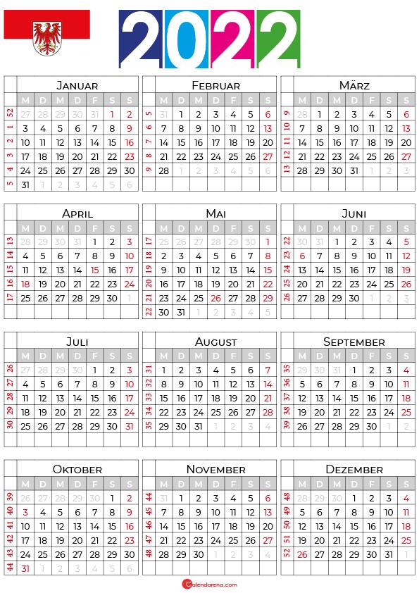 kalender 2022 ferien brandenburg