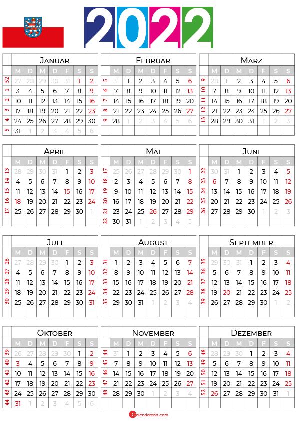 kalender 2022 ferien thüringen