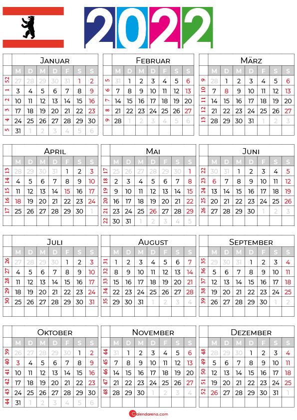 kalender 2022 mit ferien berlin