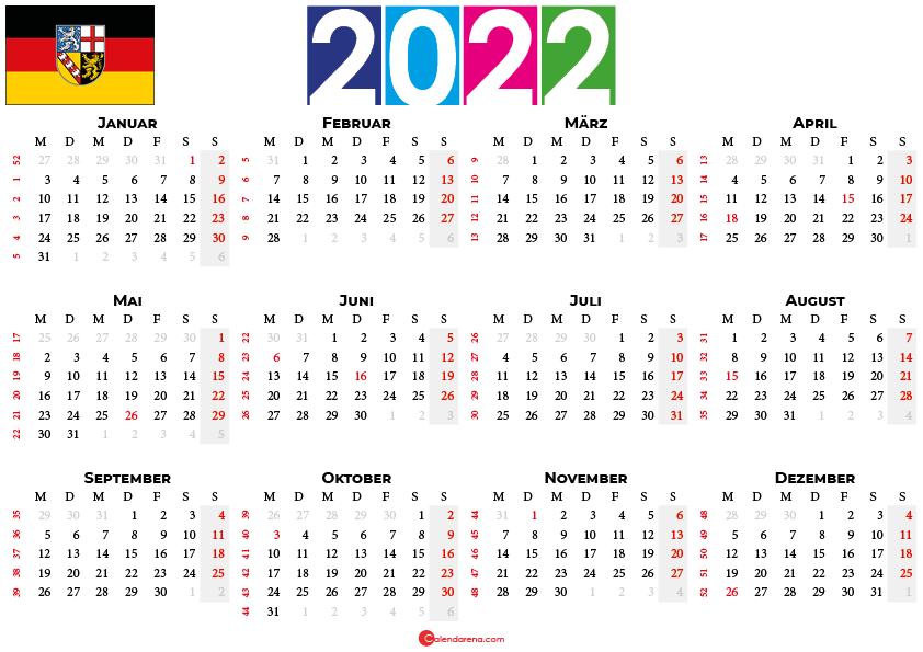 kalender 2022 saarland