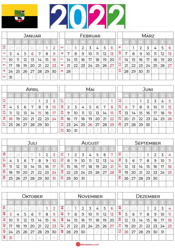 kalender 2022 sachsen-anhalt zum ausdrucken