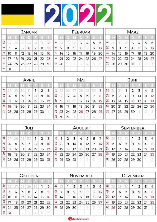 kalender baden württemberg 2022