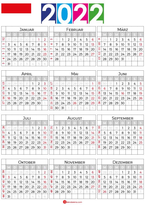 kalender hessen 2022
