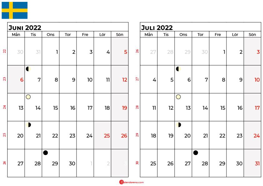 kalender juni juli 2022